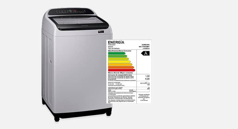 ¿Cómo se lee la etiqueta energética de una lavadora?